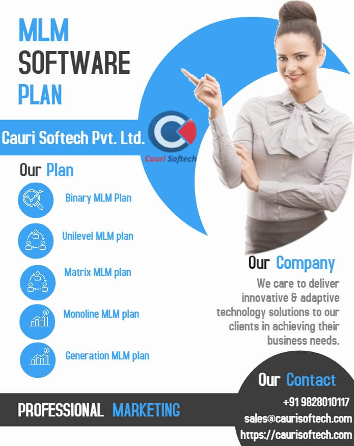 Most popular affordable MLM business compensation plan in multi-level marketing business: cauri softech